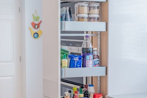 Image of an innovative kitchen cupboard storage solution
